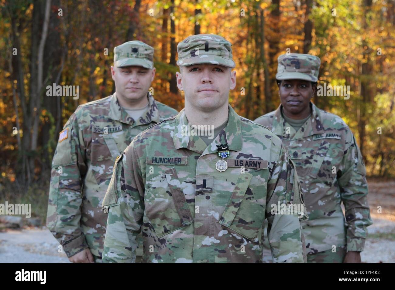 Soldier from the 58th Expeditionary Military Intelligence Brigade (EMIB) competed in the Soldier and Noncommissioned Officer and Company Grade Officer of the Year Competition, Nov. 5 at Gunpowder Military Reservation, Md. The day-long competition tested Soldiers on numerous warrior tasks and finalized with a seven mile ruck march and live-fire stress shoot. Stock Photo