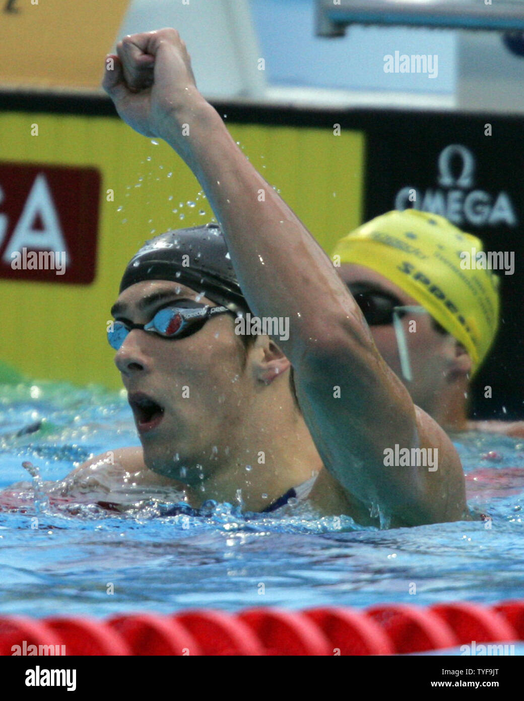 9bace822cd5 American swimming superstar Michael Phelps claims victory following the  final race in the men's 200-