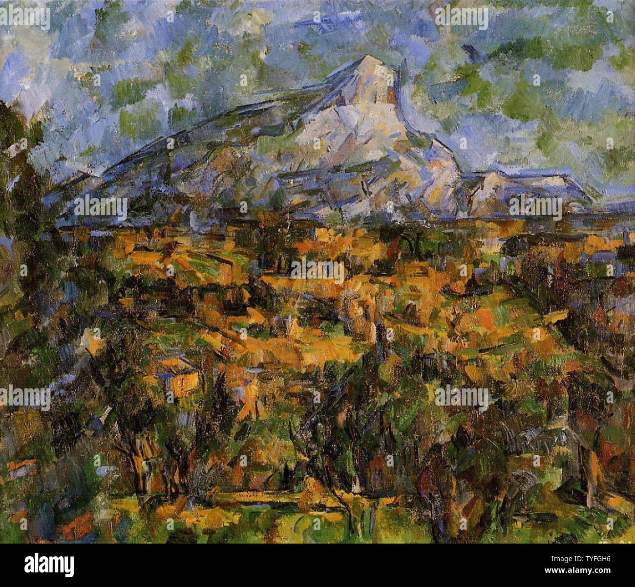 Paul Cézanne - Mont Sainte Victoire Seen Les Lauves 1 C 1906 Stock Photo
