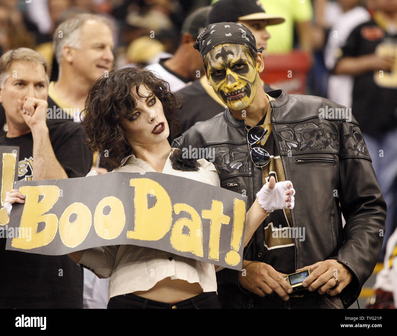 New Orleans Saints Fans Dress In Costumes For Halloween