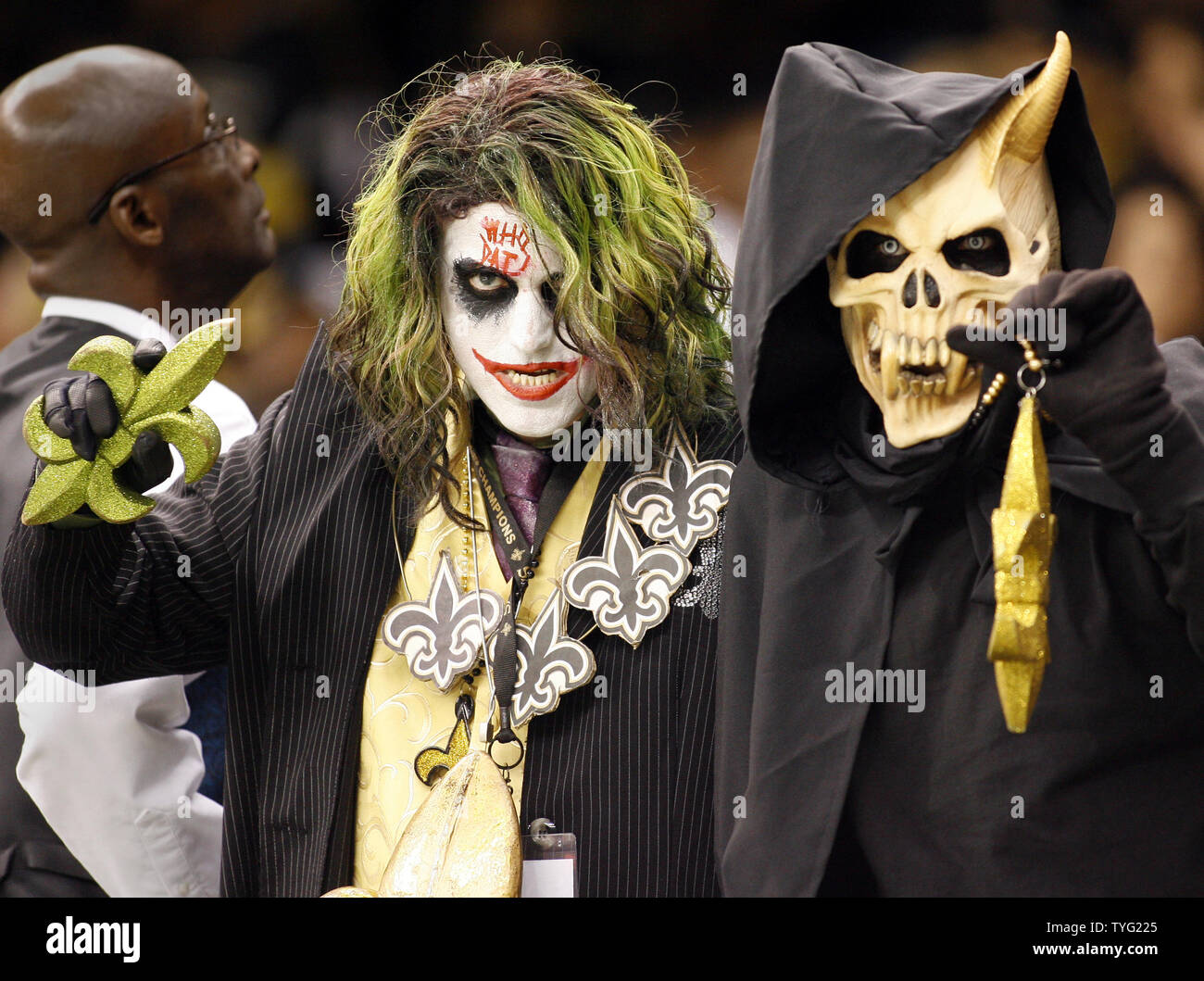 New Orleans Saints Fans Costume For Halloween During The