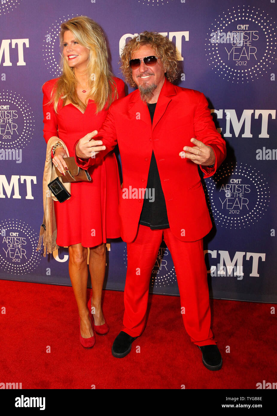 Sammy Hagar And Wife Kari Walk The Red Carpet At The 2012 Cmt Artists Of The Year Awards In Franklin Tennessee On December 3 2012 Upi Terry Wyatt Stock Photo Alamy