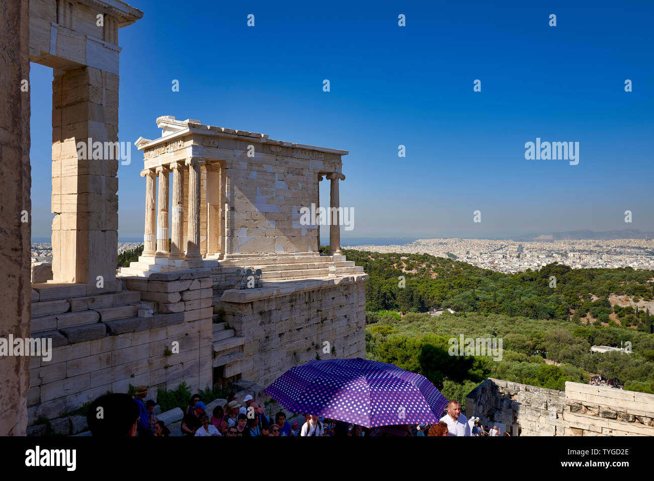 Athens Greece. Propylaea, the gate at the entrance of the Acropolis - Stock Image