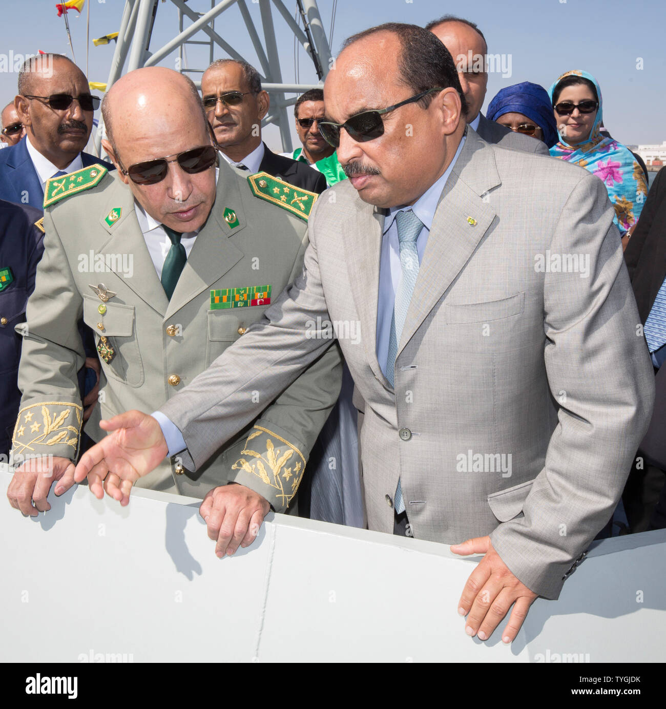 EX PRESIDENT OF MAURITANIA MOHAMED OULD ABDEL AZIZ AND NEW PRESIDENT MOHAMED OULD GHAZOUANI - Stock Image
