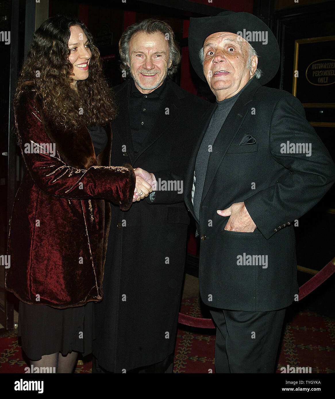 Harvey Keitel (left) and wife and Jake LaMotta arrive for a