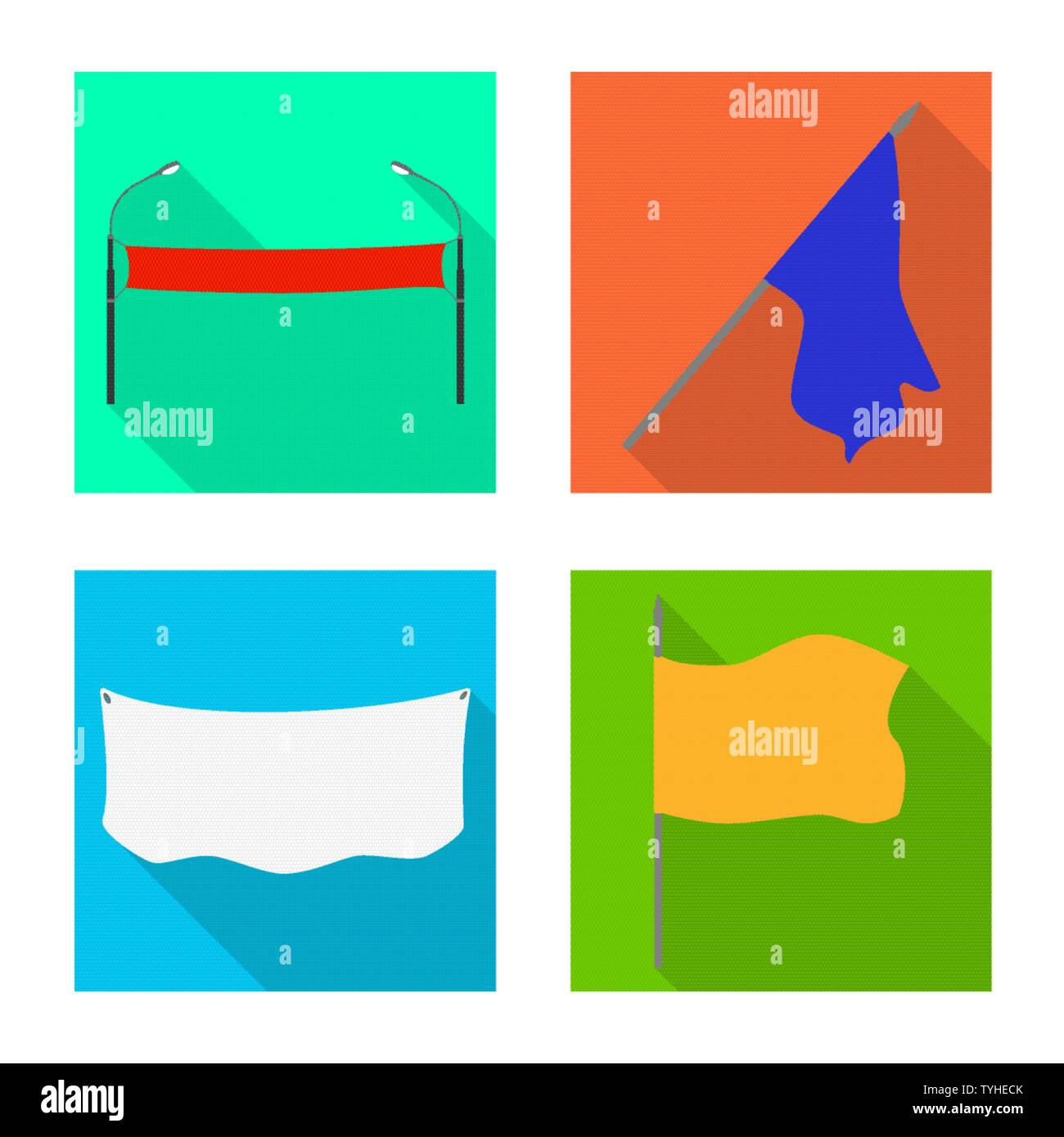 Vector design of fabric and white icon. Set of fabric and presentation stock symbol for web. - Stock Vector