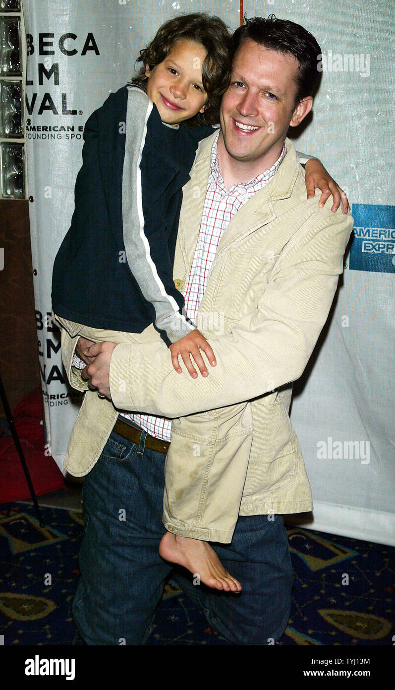 "Director Charles Oliver and Bobby Coleman arrive for the Tribeca Film Festival premiere of ""Take"" at the Clearview Chelsea West Cinema in New York on April 27, 2007.  (UPI Photo/Laura Cavanaugh) Stock Photo"