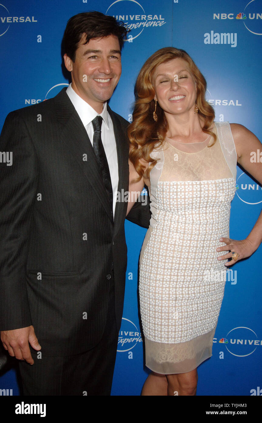 Actors Kyle Chandler and Connie Britton of the tv series: Friday