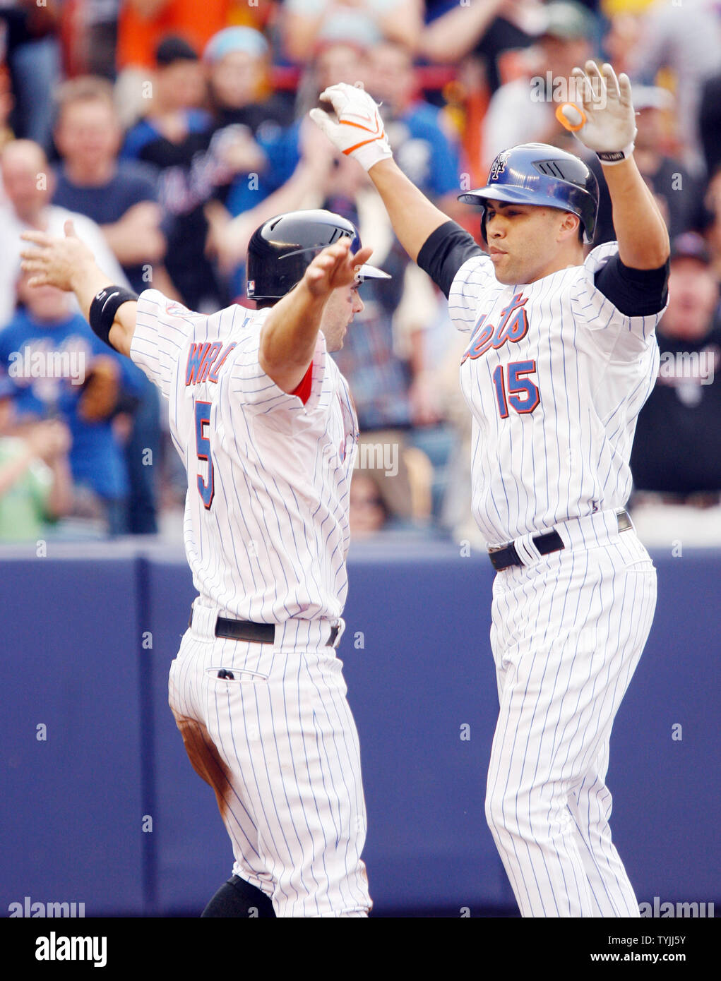New York Mets Carlos Beltran And David Wright L React