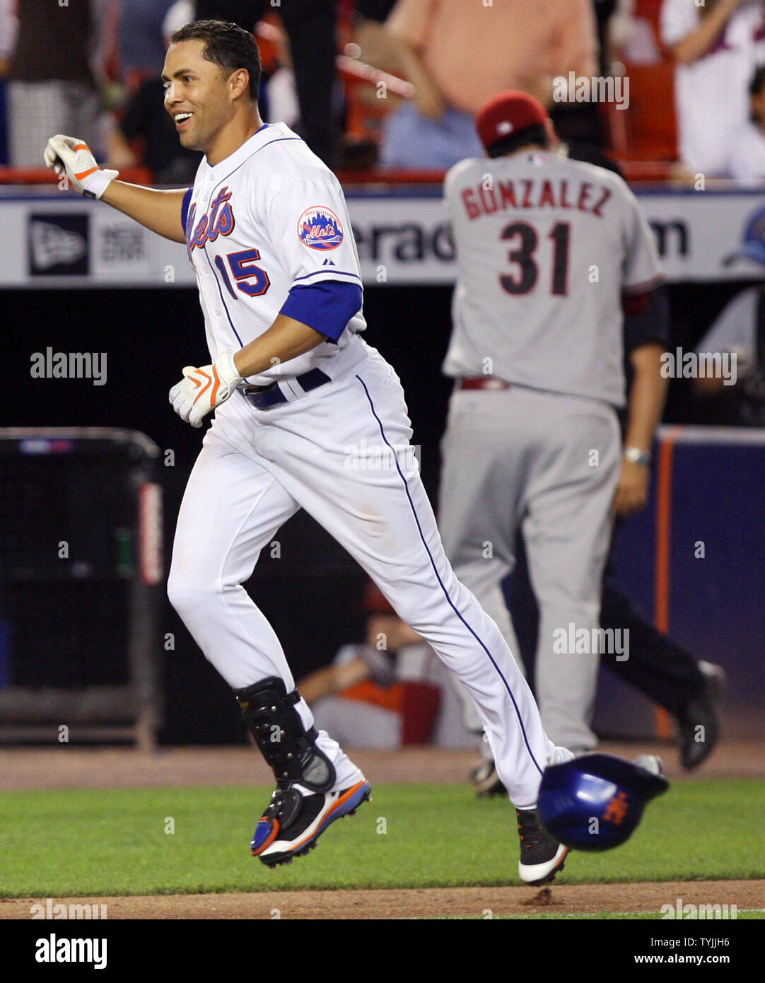 New York Mets Carlos Beltran Reacts While Arizona
