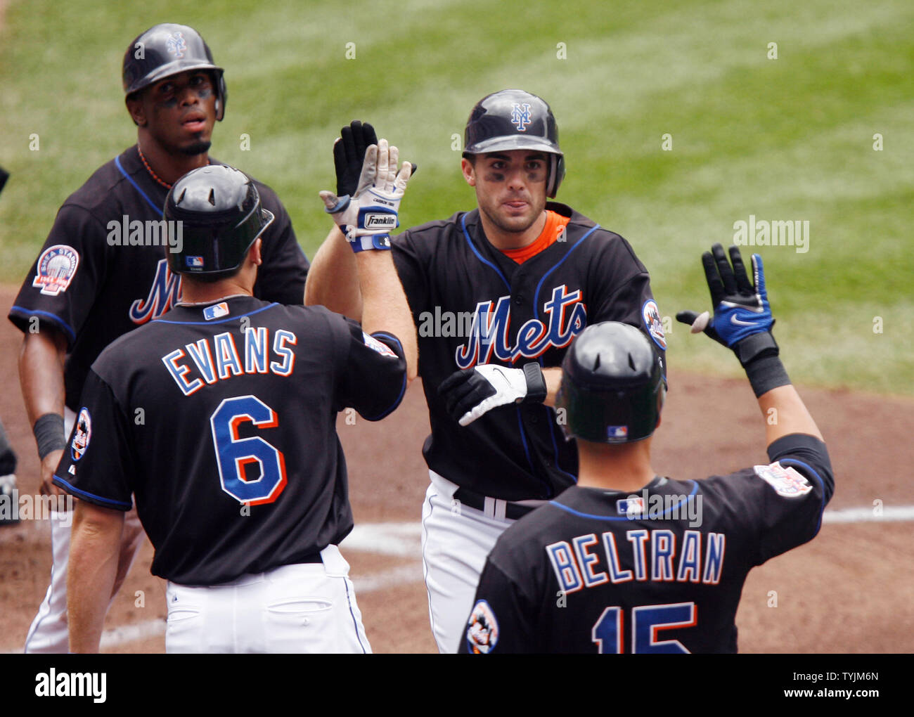 New York Mets Jose Reyes Nick Evans David Wright And