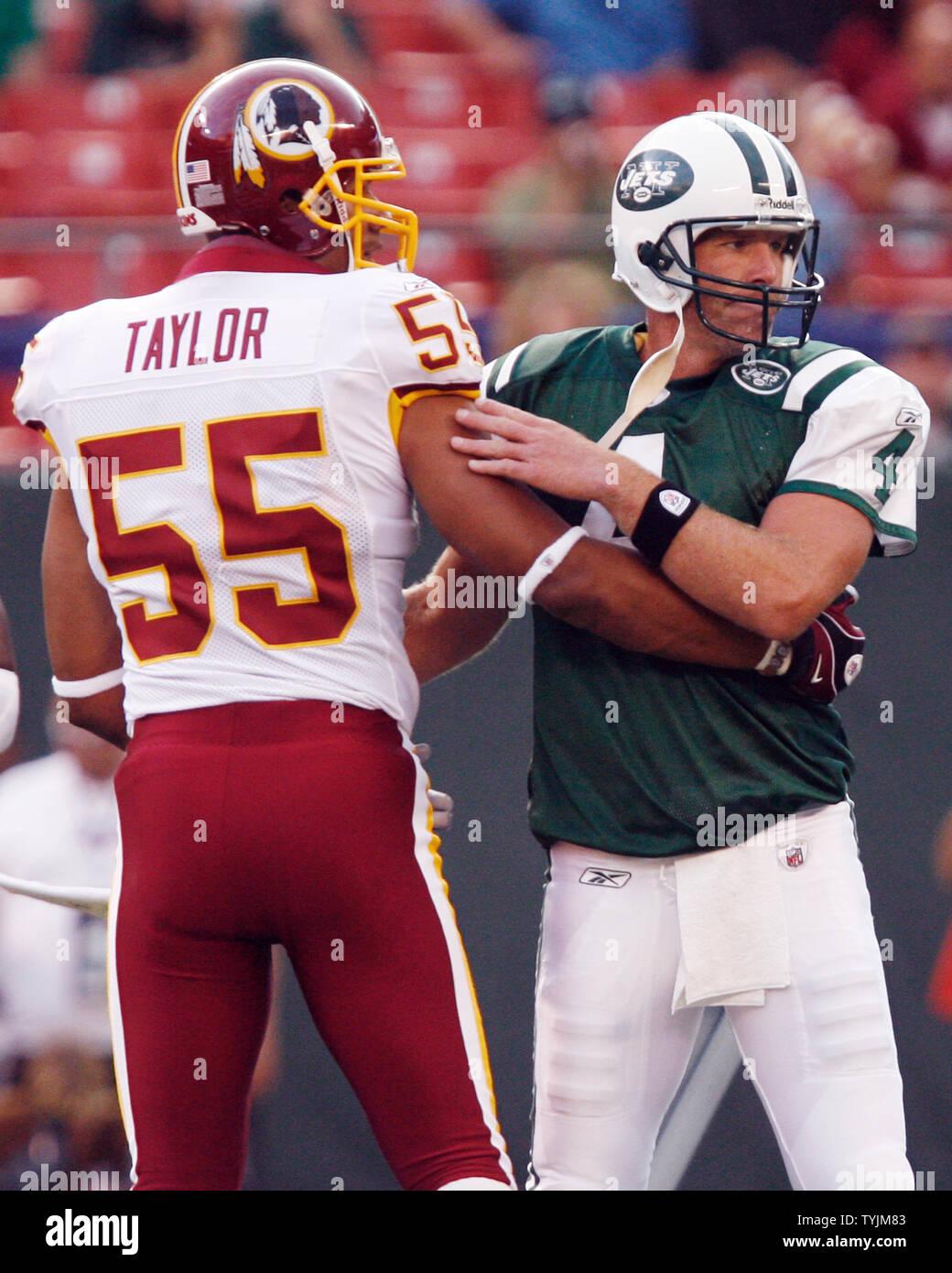 new arrival 70a86 e7b78 New York Jets Brett Favre and Washington Redskins Jason ...