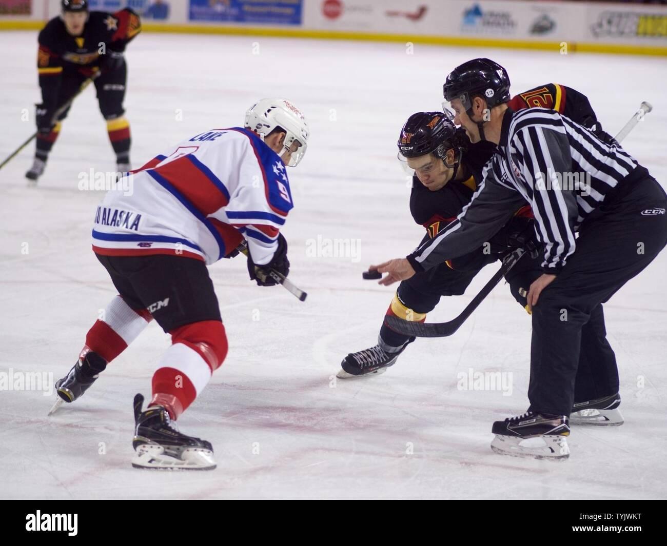 Alaska Aces forward Ben Lake faces off with Indianapolis