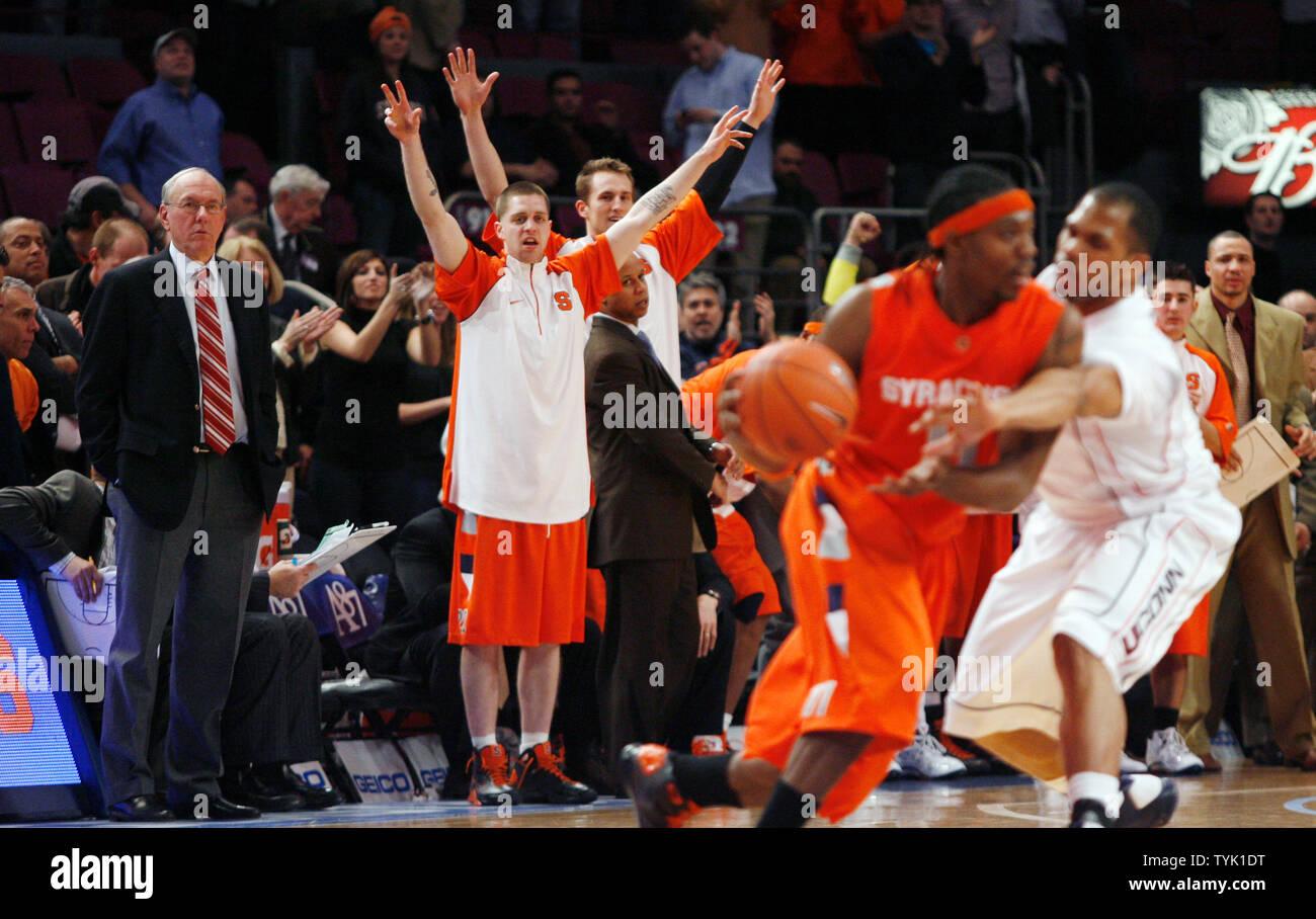 Syracuse Orange Head Coach Jim Boeheim And Eric Devendorf