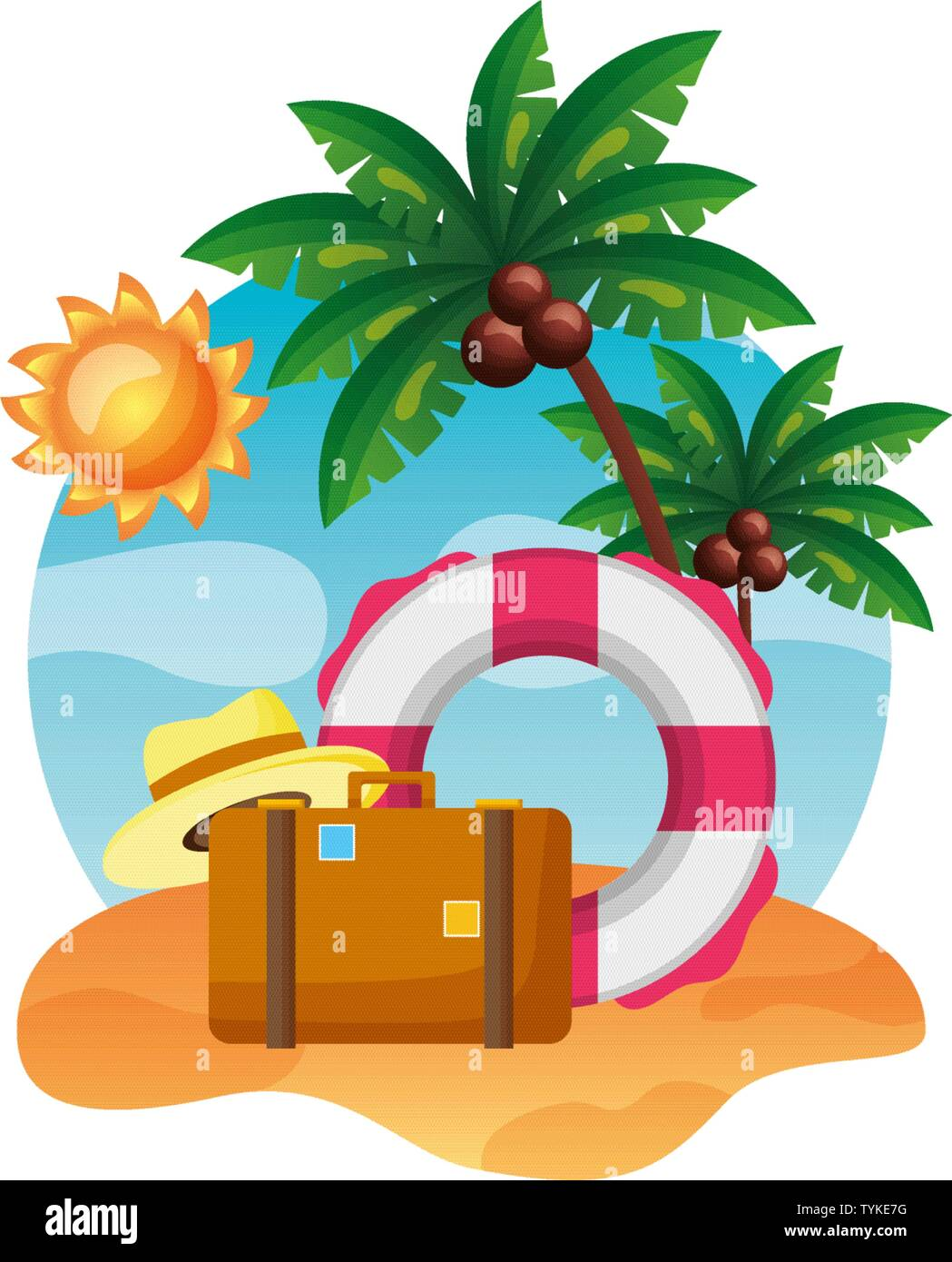 summer time holiday Stock Vector
