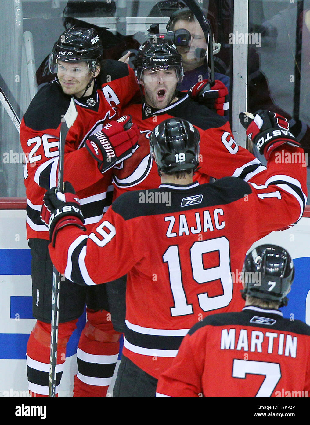 info for 5501d 83d92 New Jersey Devils Patrik Elias (26) and Travis Zajac ...