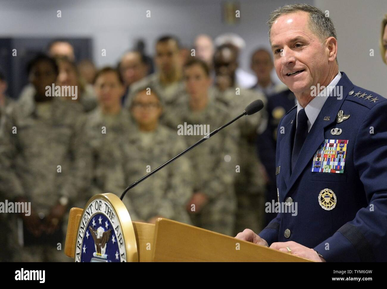 Chief Master Sgt Of The Air Force James A Stock Photos