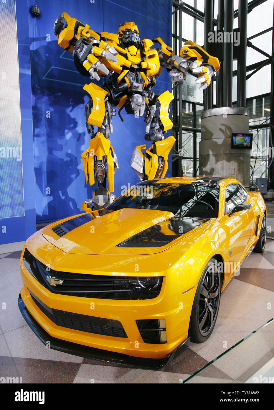 Chevrolet's Bumblebee car, which will be featured in the