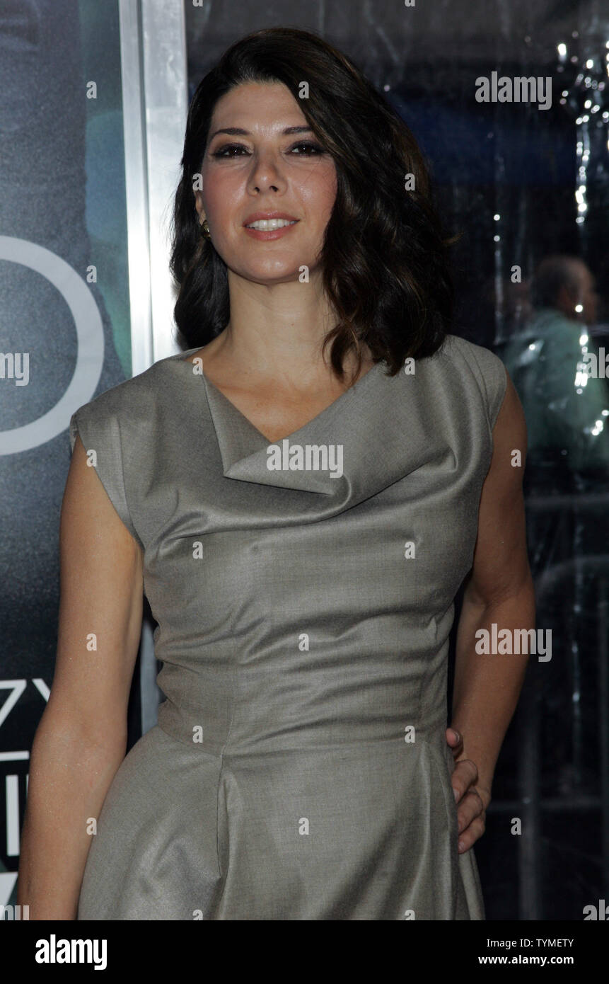 Marisa Tomei arrives for the premiere of 'Crazy Stupid Love' at the Ziegfeld Theatre in New York on July 19, 2011.       UPI /Laura Cavanaugh - Stock Image
