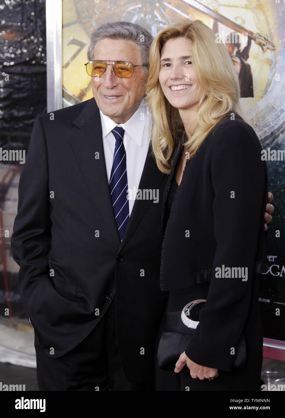 Tony Bennett and Susan Crow arrive on the carpet for the Hugo World Premiere at the Ziegfeld Theater in New York City on November 21, 2011.     UPI/John Angelillo - Stock Image