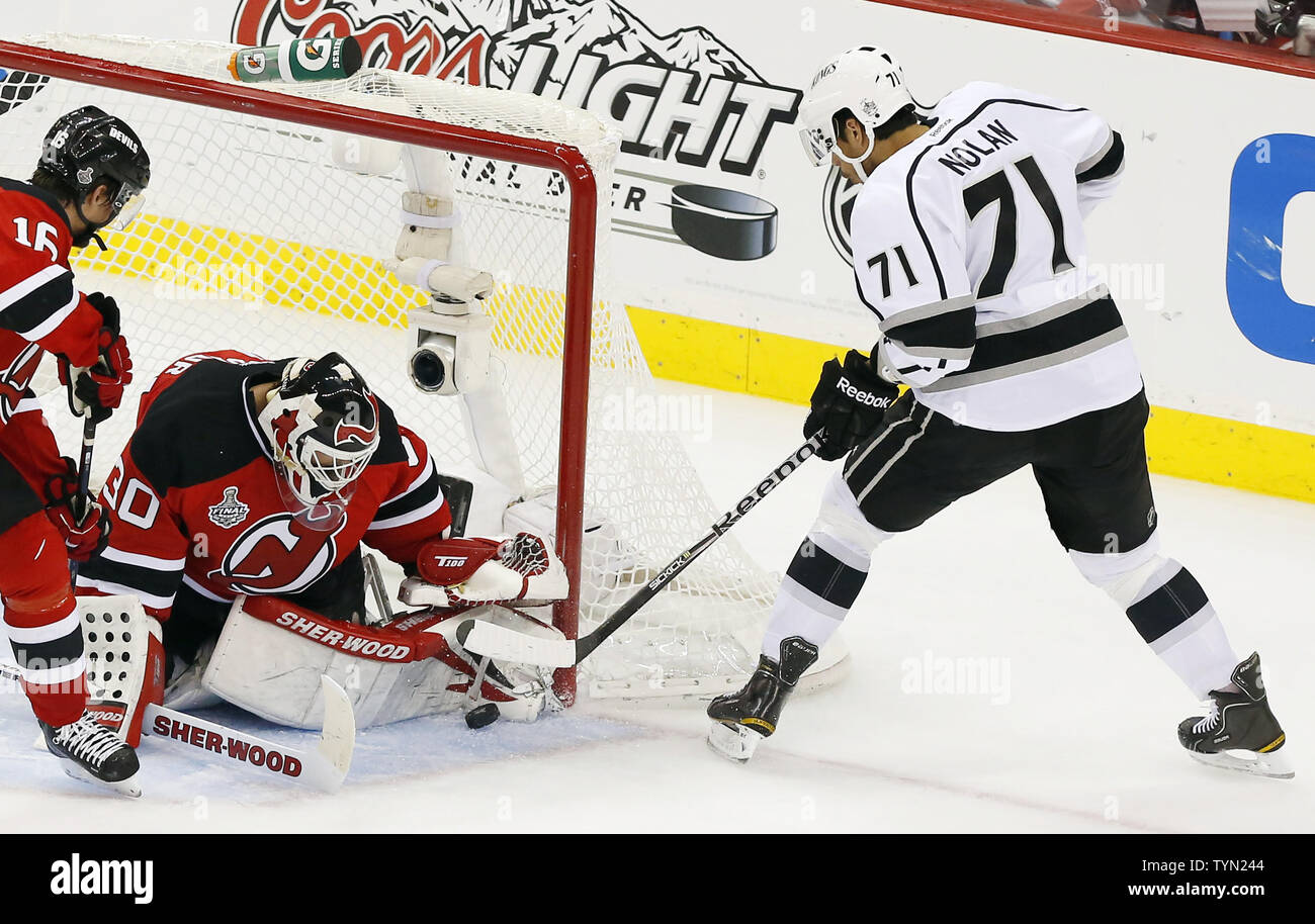 the latest d8a4f 9a2e9 New Jersey Devils Martin Brodeur makes a save on a shot from ...