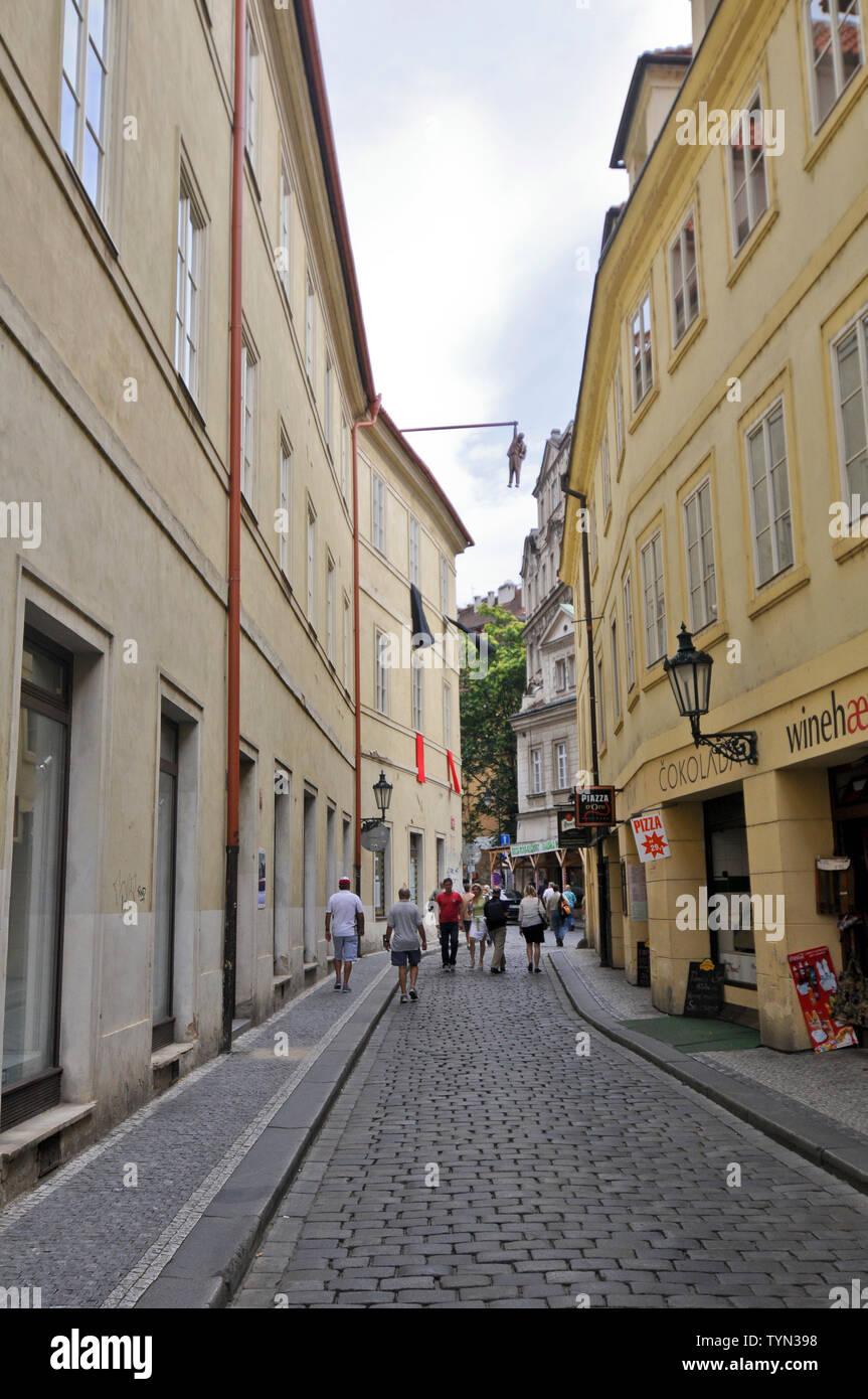 Husova street, Prague Old Town , Czech Republic - Stock Image