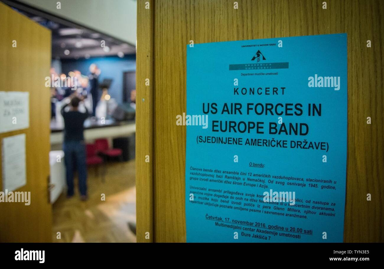 The U S  Air Forces in Europe Band plays a concert in Novi