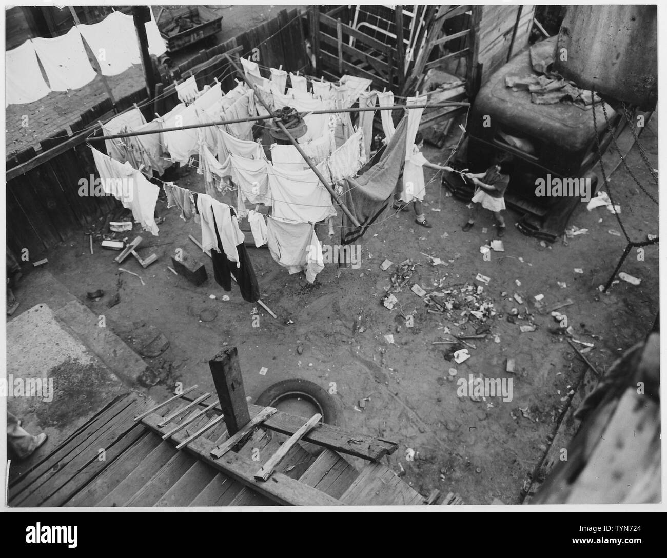 US Housing Authority: Los Angeles, California Site of Pico Gardens Cal 4-2: the before photo - Stock Image