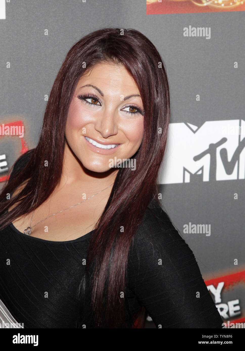 Deena Nicole Cortese arrives on the red carpet for the 'Jersey Shore' Final Season Premiere at Bagatelle in New York City on October 4, 2012.       UPI/John Angelillo Stock Photo