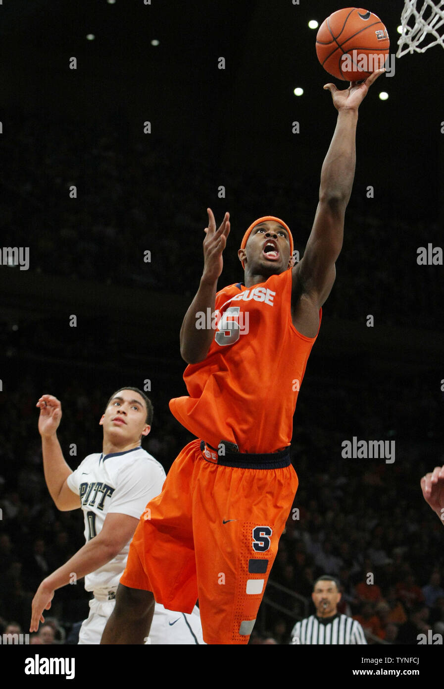 C J Fair Of Syracuse Goes To Score As Pittsburgh S James