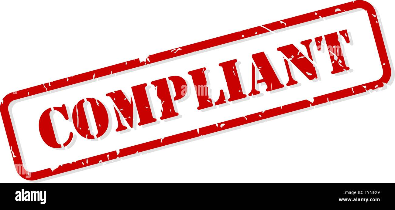 Compliant red rubber stamp vector isolated - Stock Image