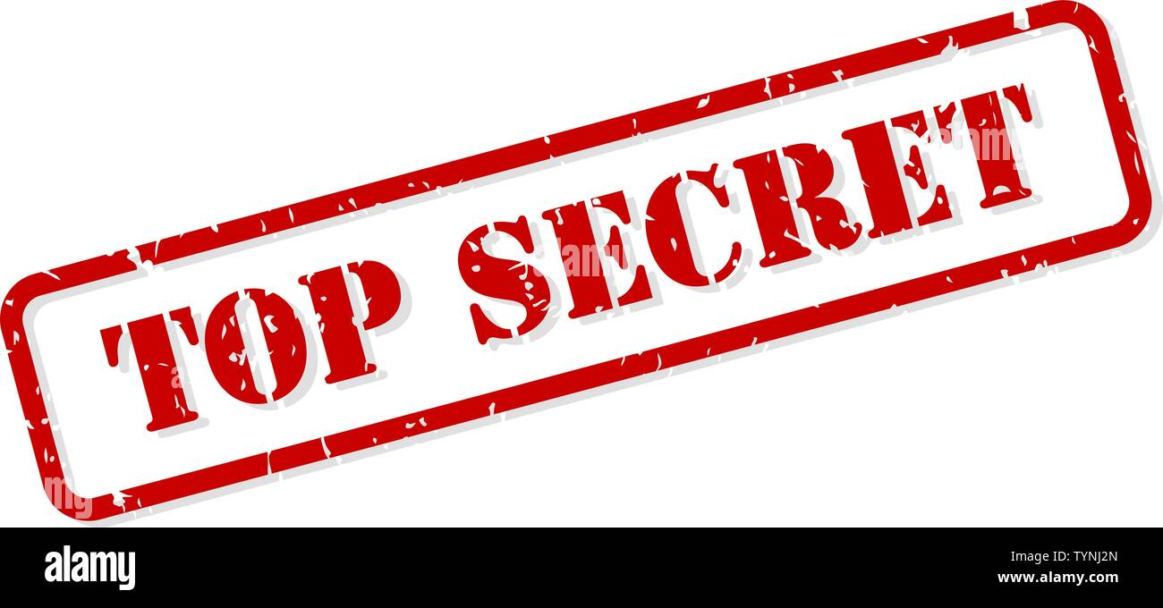 Top secret red rubber stamp vector isolated - Stock Image