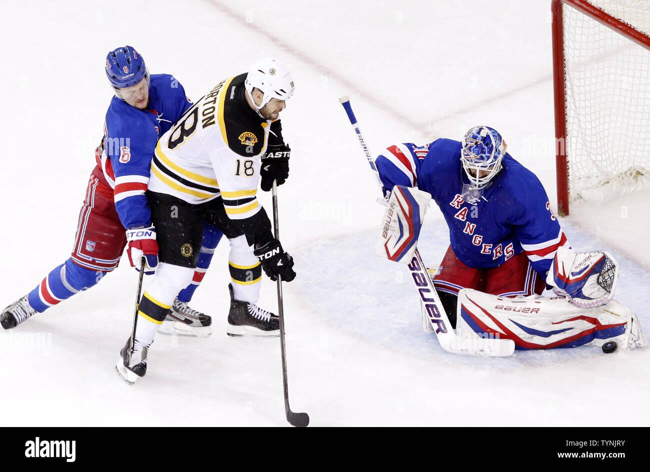 Boston Bruins Nathan Horton And New York Rangers Anton Stralman