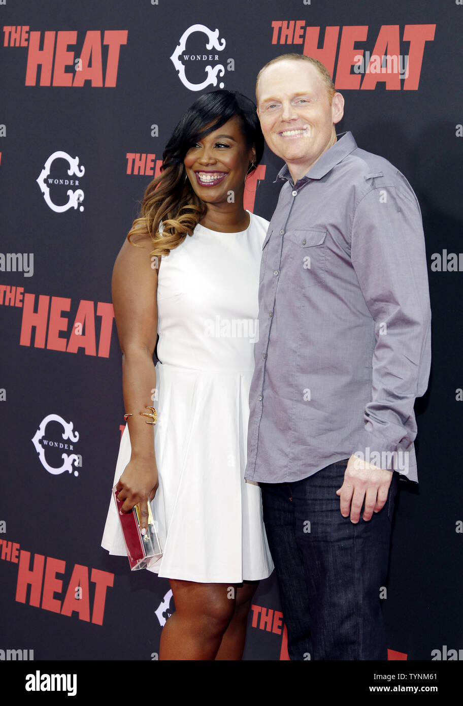 Bill Burr And Nia Renee Hill Arrive On The Red Carpet At The New York Premiere Of The Heat At The Ziegfeld Theatre In New York City On June 23 2013 Upi John