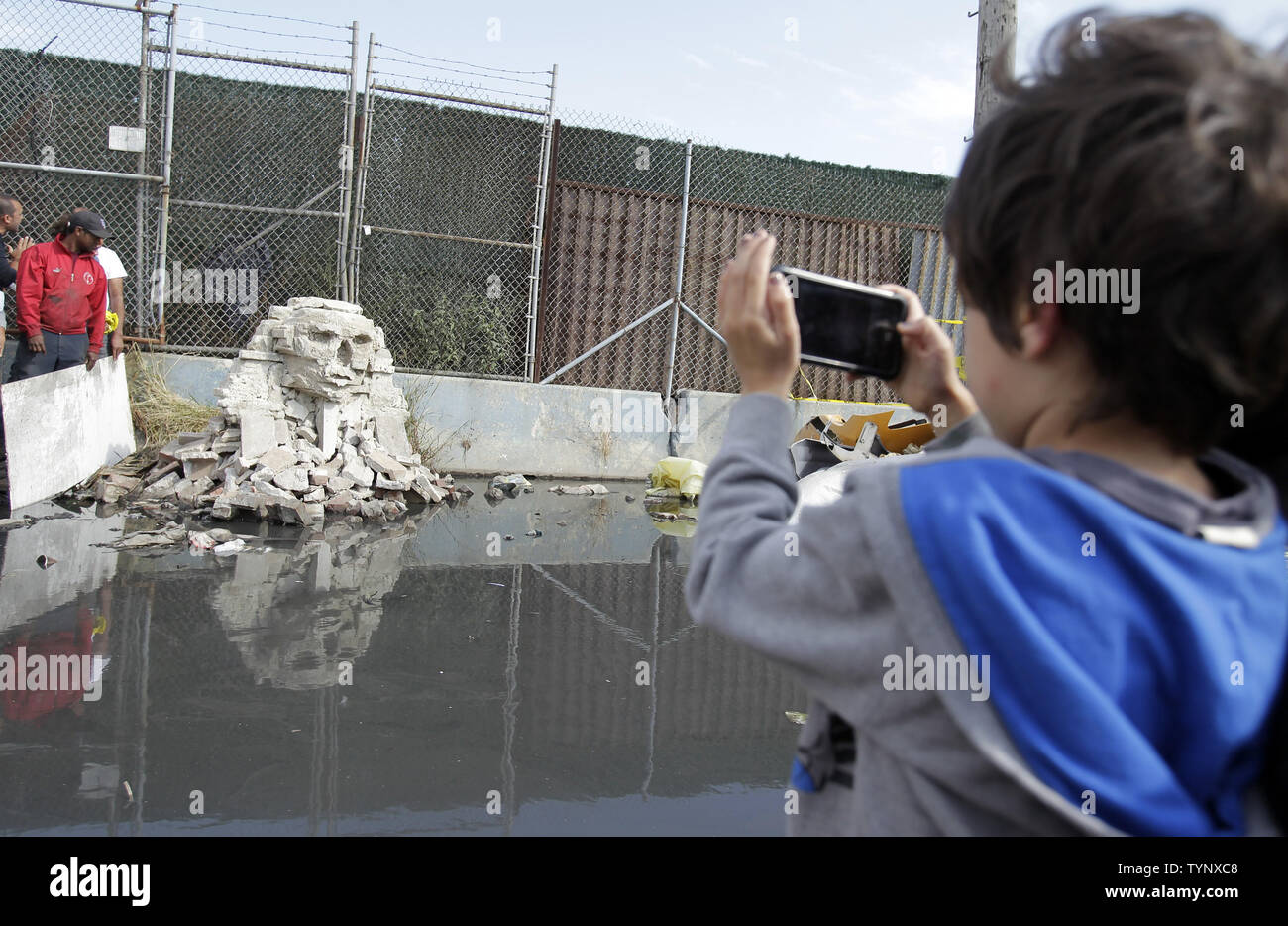 A child takes a picture of