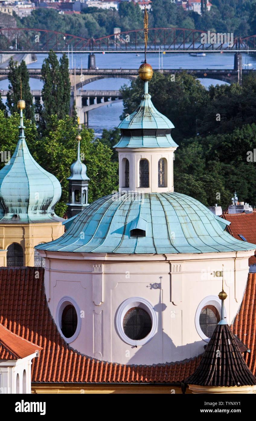 St. Nicholas Church (Malá Strana), Prague, Czech Republic Stock Photo