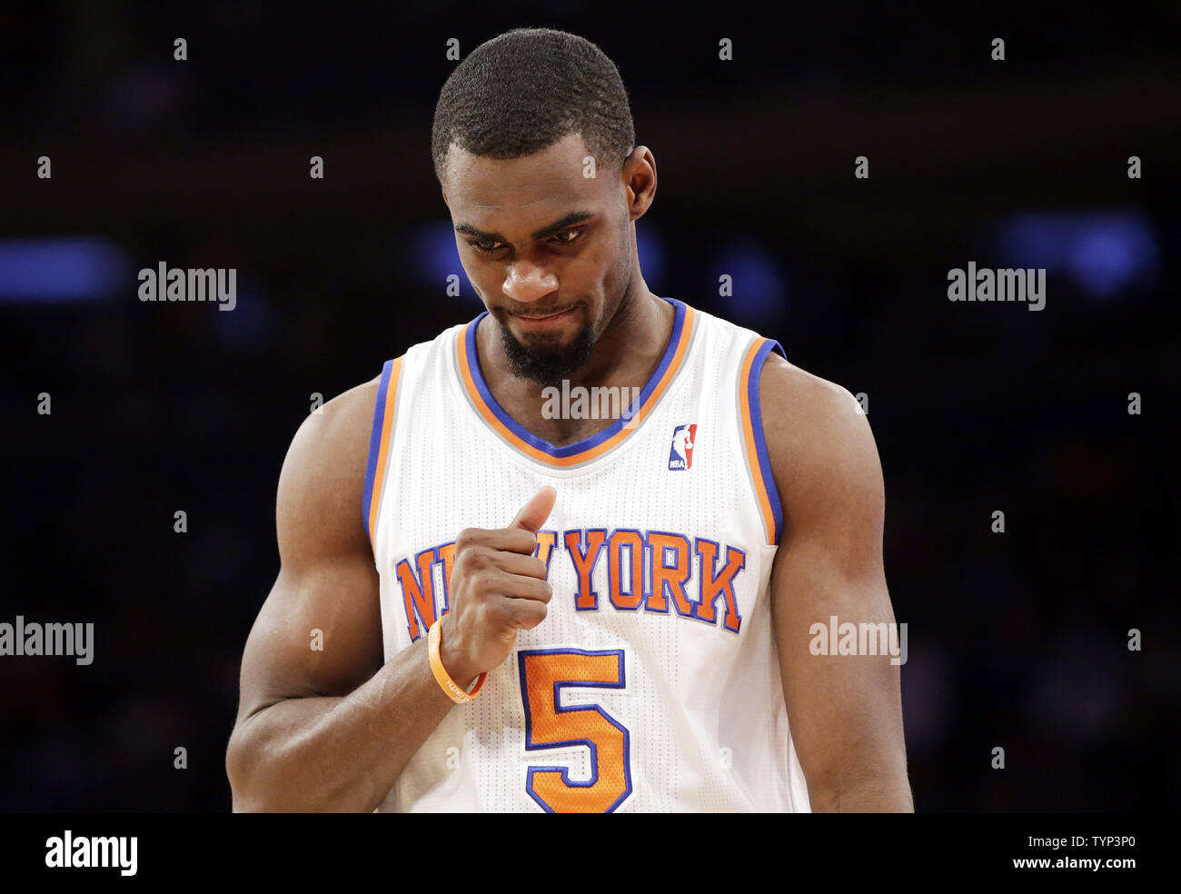 watch 26a85 efcbb New York Knicks Tim Hardaway Jr. stands on the court in the ...
