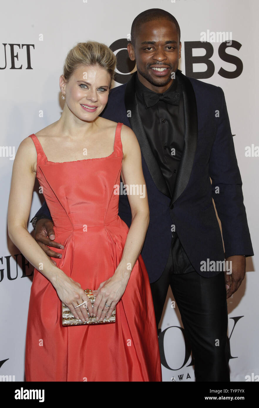 Celia Keenan-Bolger and Dule Hill arrive on the red carpet at the 68th Tony Awards at Radio City Music Hall in New York City on June 8, 2014. The annual awards, which are presented by the American Theatre Wing, recognizes the achievements of Broadway theater.     UPI/John Angelillo. - Stock Image