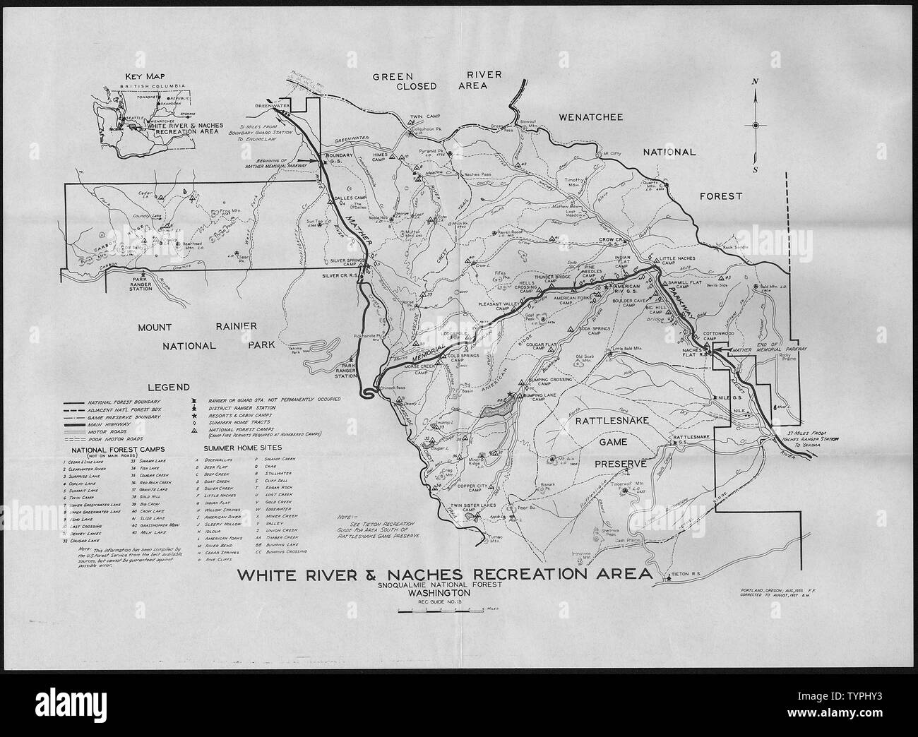 White River and Naches Recreation Area, Snoqualmie National ...