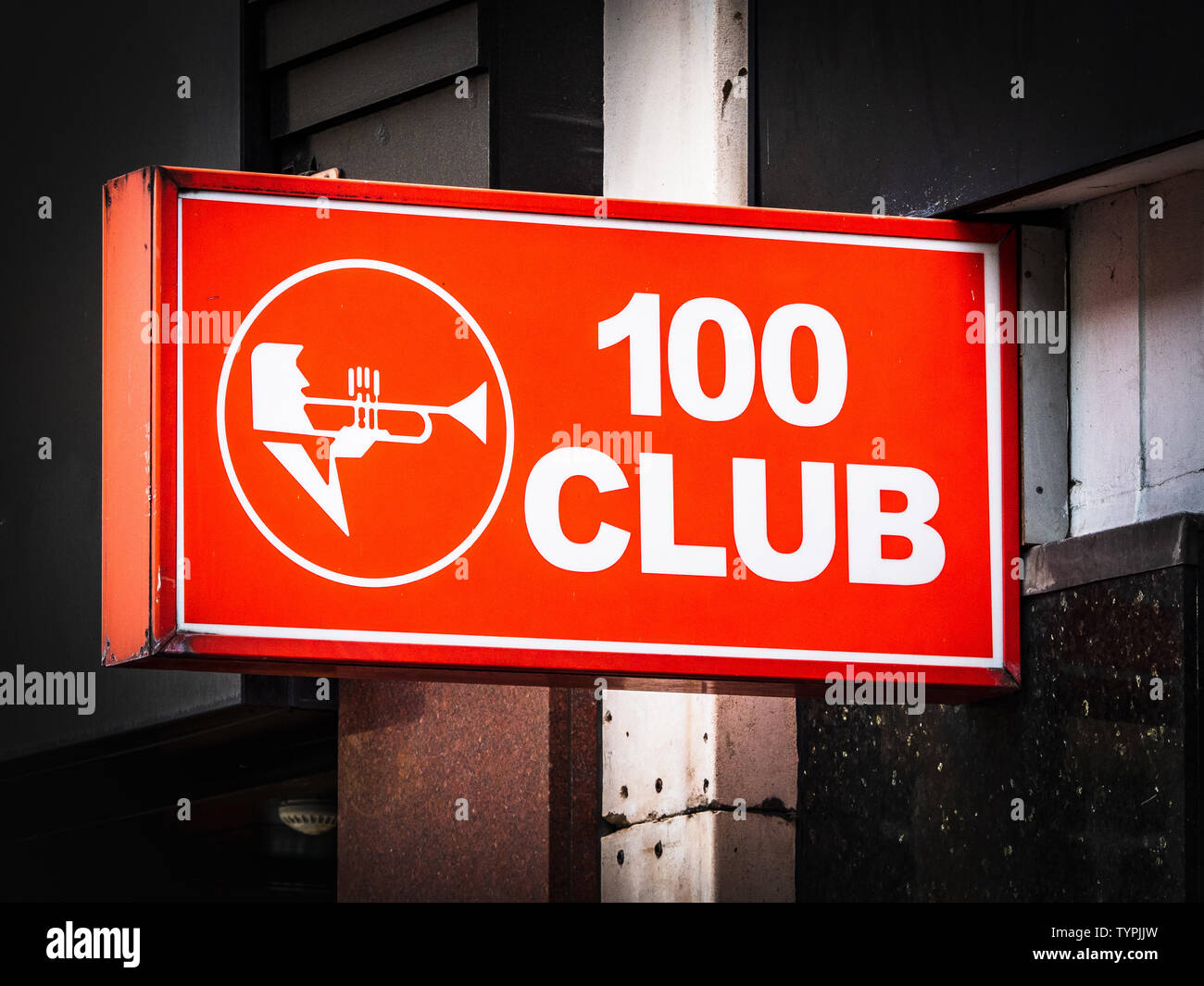 100 Club  - a music venue located at 100 Oxford Street in Central London. The 100 Club has been hosting live music since 1942. - Stock Image