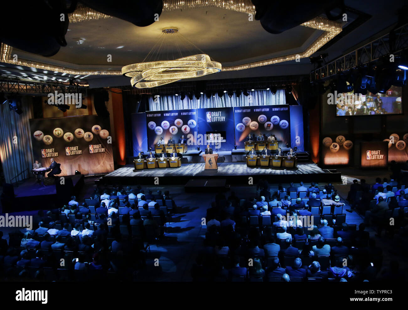 The 2015 NBA Draft Lottery gets set to begin at the New York