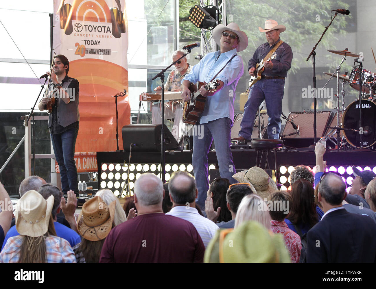 Alan Jackson performs on the NBC Today Show at Rockefeller Center in New York City on July 17, 2015.        Photo by John Angelillo/UPI - Stock Image