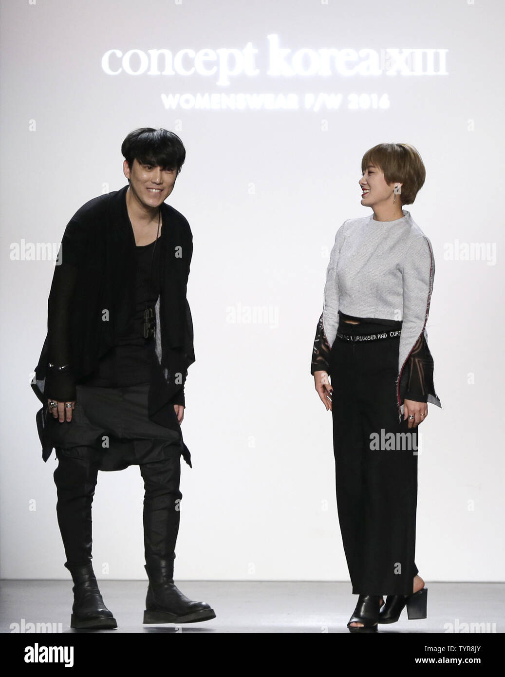 Designers Step Out On The Runway After The Concept Korea Fashion Show Fall 2016 Collection At Skylight At Moynihan Station During Fall 2016 New York Fashion Week On February 12 2016 In