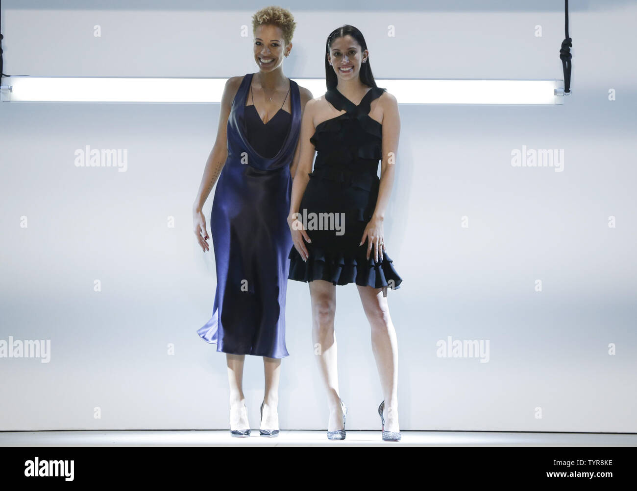 Designers Carly Cushnie And Michelle Ochs Stand On The Runway At The Cushnie Et Ochs Fall 2016 Fashion Show At The Gallery Skylight At Clarkson Sq During Fall 2016 New York Fashion