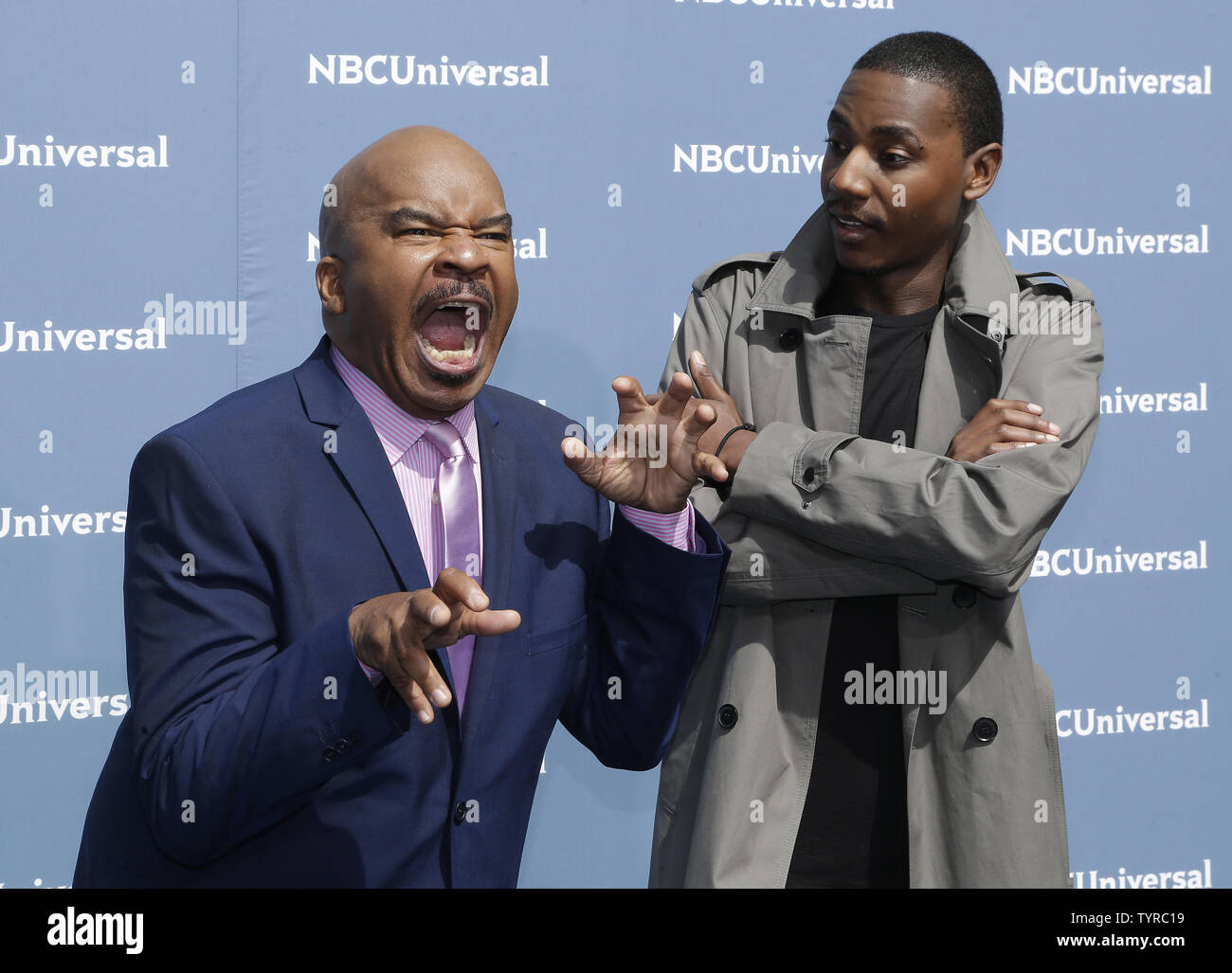 David Alan Grier arrives on the carpet the 2016 NBCUNIVERSAL Upfront at Radio City Music Hall on May 16, 2016 in New York City.    Photo by John Angelillo/UPI - Stock Image