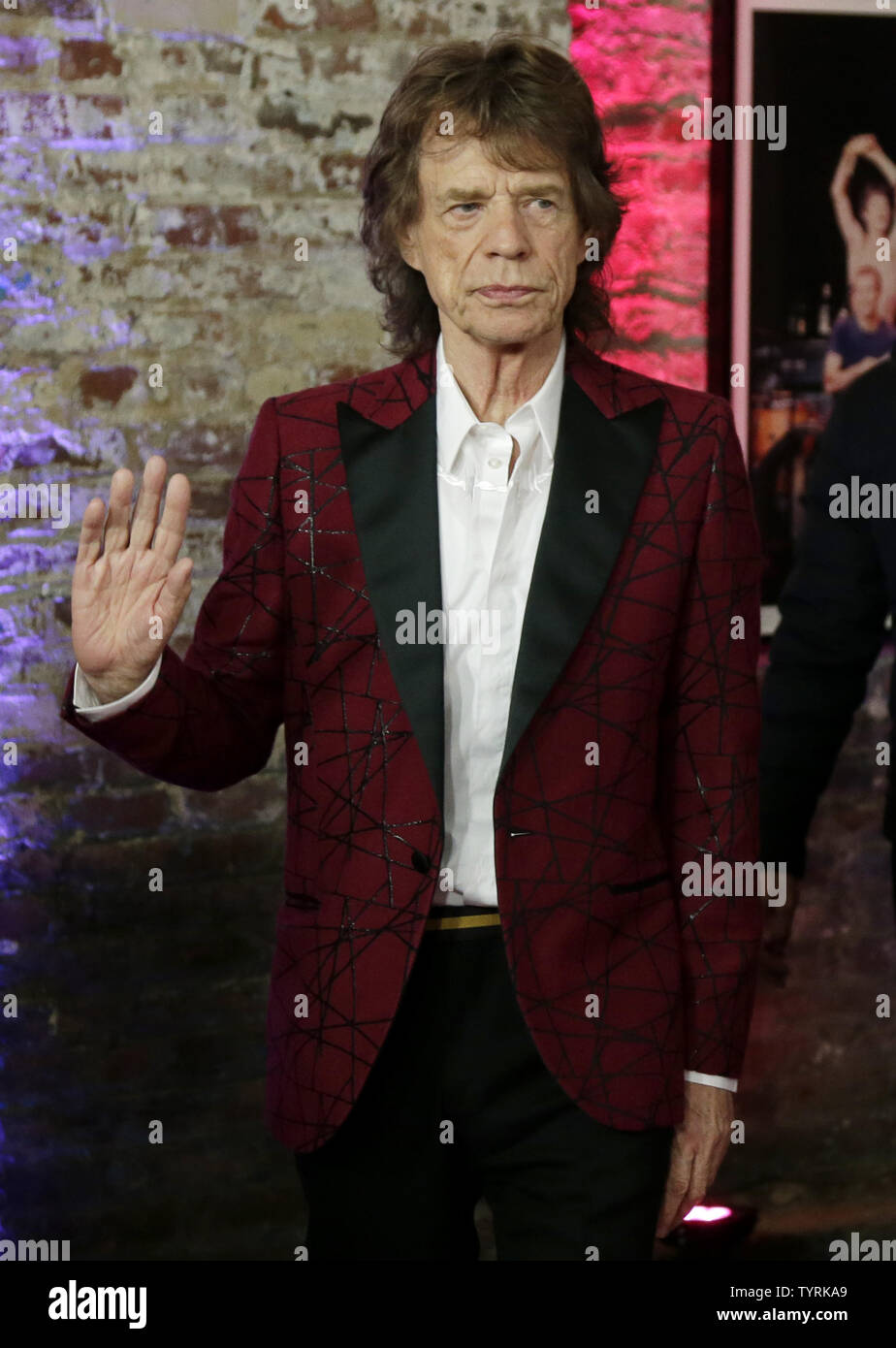 Mick Jagger of The Rolling Stones arrives on the red carpet