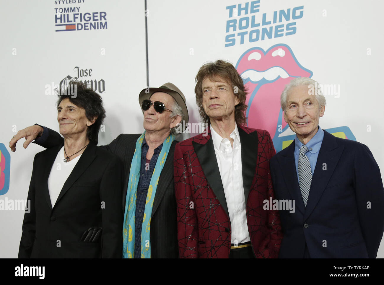 The Rolling Stones band members Ron Wood, Keith Richards