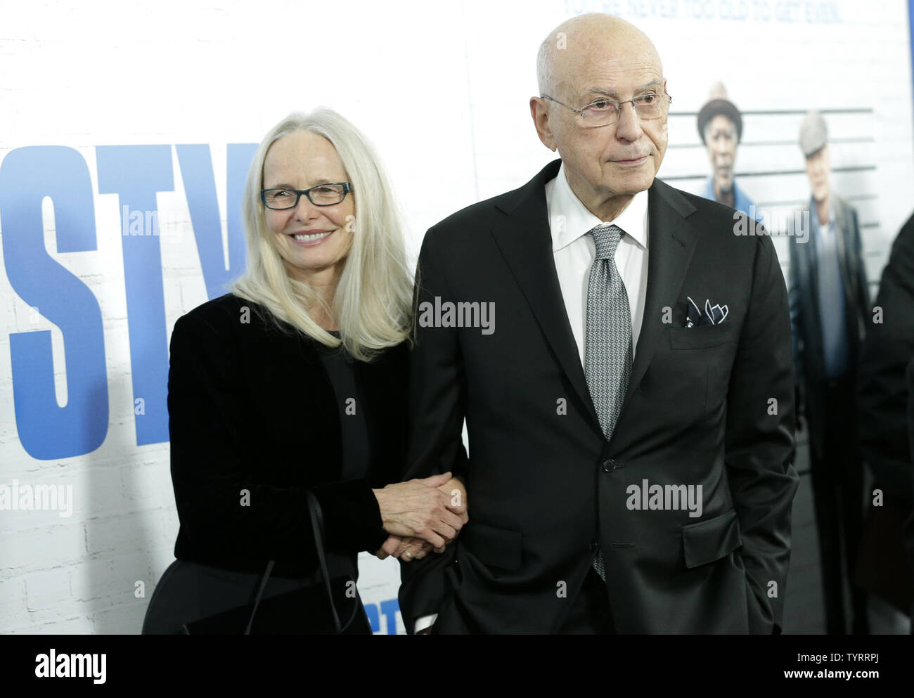 Suzanne Newlander Arkin, and Alan Arkin  arrive on the red carpet at the 'Going in Style' World Premiere at SVA Theatre on March 30, 2017 in New York City.    Photo by John Angelillo/UPI - Stock Image