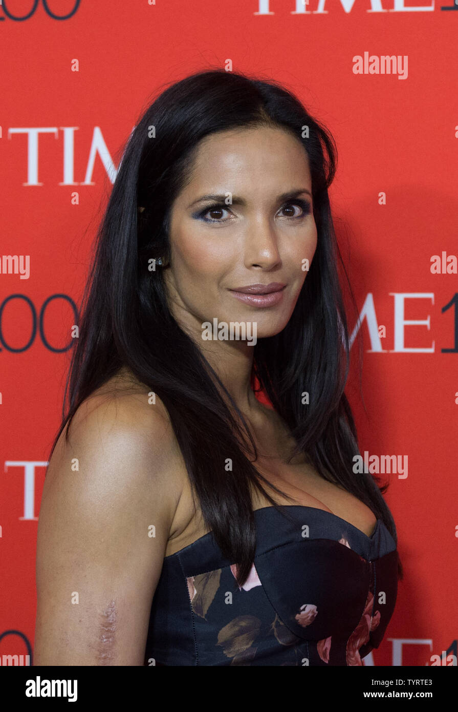Padma Lakshmi arrives on the red carpet at the TIME 100 Gala at