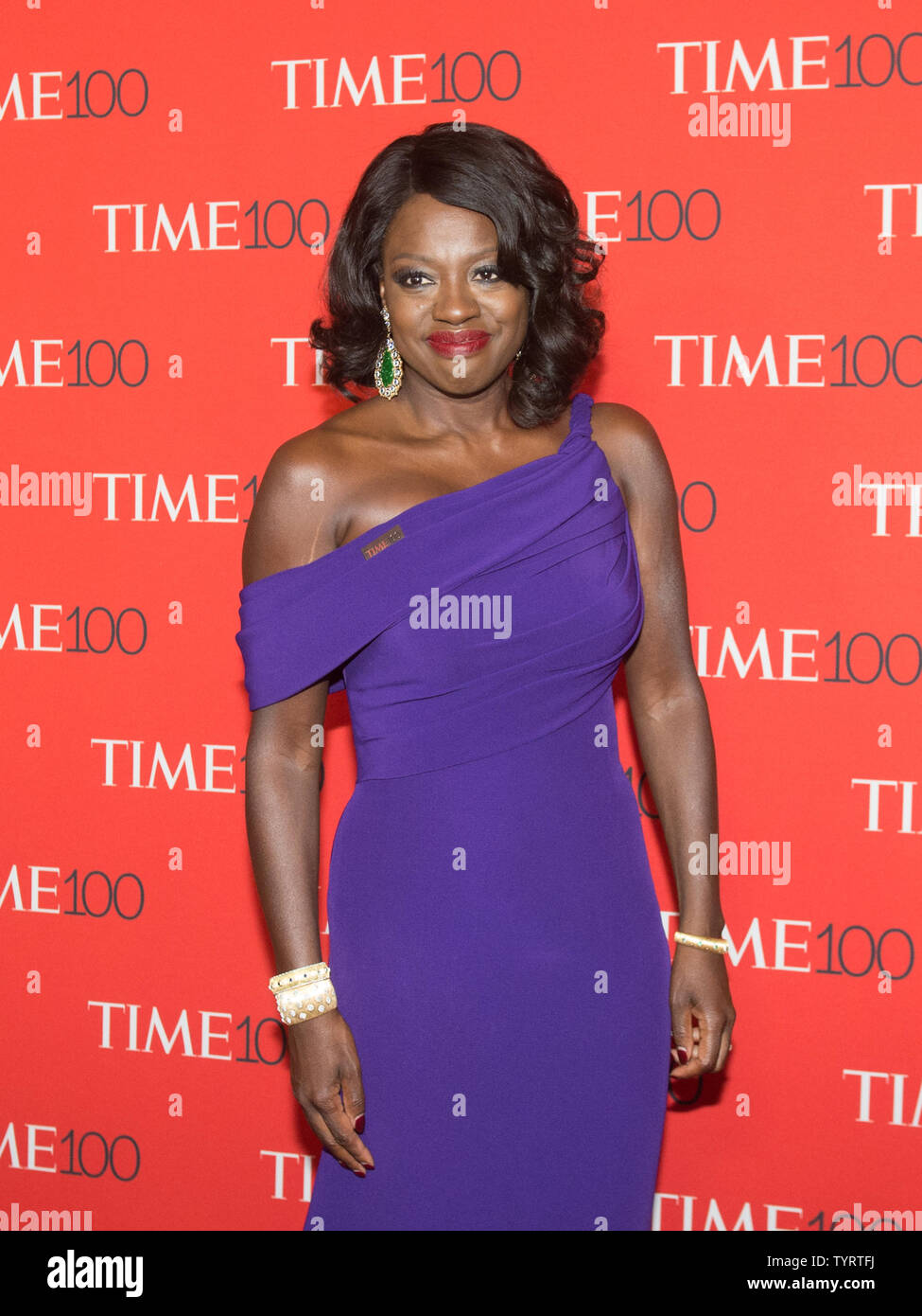 Viola Davis arrives on the red carpet at the TIME 100 Gala